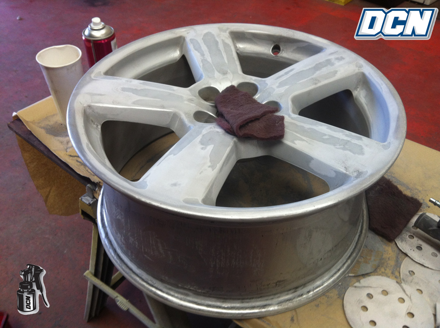 Alloy Wheel Painting Before